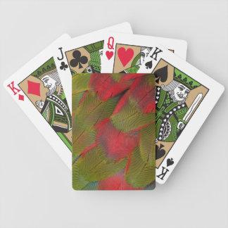Macaw-Brust-Feder-Entwurf Bicycle Spielkarten