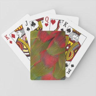 Macaw-Brust-Feder-Entwurf Spielkarten