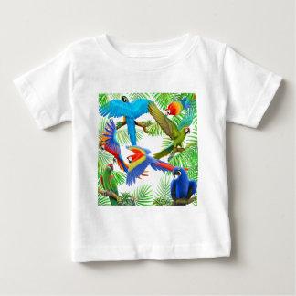 Macaw-Dschungel-Säuglings-T - Shirt