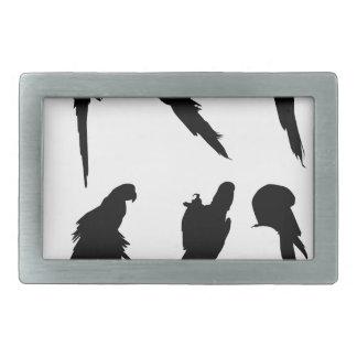 Macaw-Silhouette-Set Rechteckige Gürtelschnallen