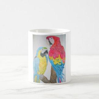 Macaws-Papageien-Aquarell Kaffeetasse