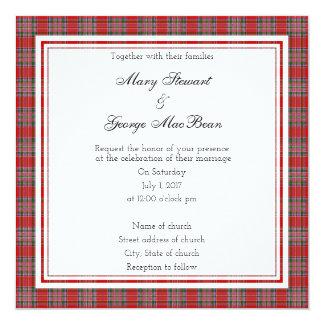 MacBean schottische Hochzeits-Quadrat-Einladung Karte