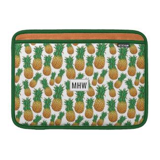 Macbook Monogramm des Ananas-Musters MacBook Air Sleeve