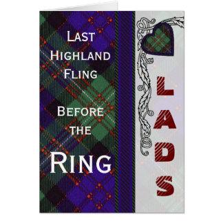 MacDonald Glengarry-des schottischen Herzentwurfs Karte