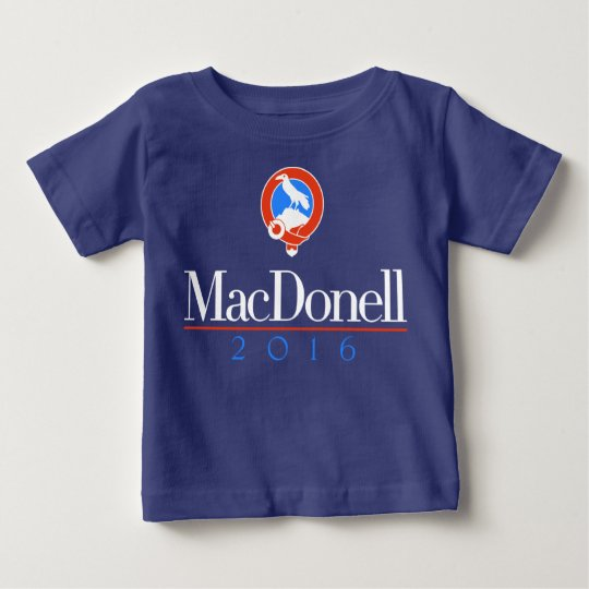 MacDonell Baby 2016 (blaues Party) Baby T-shirt