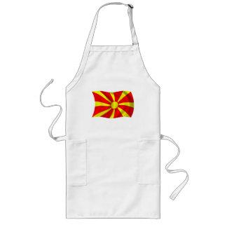 Macedonia-Flaggen-Schürze Lange Schürze