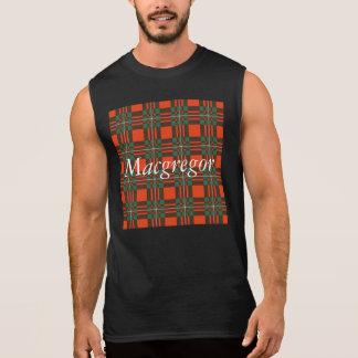Macgregor Clan karierter schottischer Tartan Ärmelloses Shirt