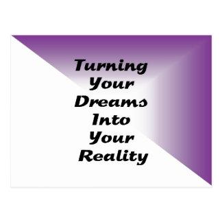 Machen Ihrer Träume zu Ihre Wirklichkeit Postkarte