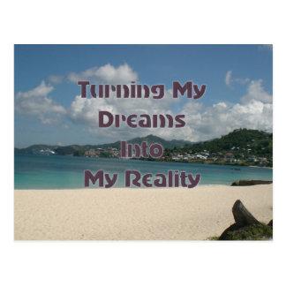 Machen Ihrer Träume zu Wirklichkeit Postkarte