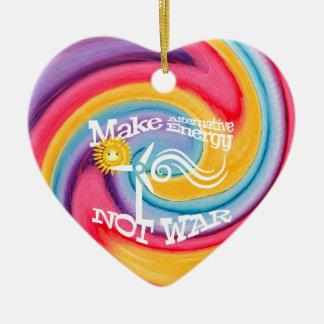Machen Sie alternative Energie-nicht Keramik Herz-Ornament