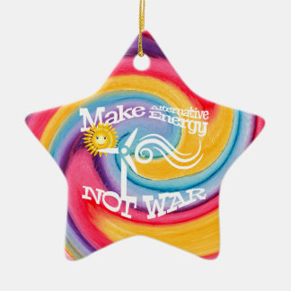 Machen Sie alternative Energie-nicht Keramik Stern-Ornament