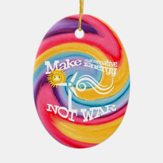 Machen Sie alternative Energie-nicht Ovales Keramik Ornament