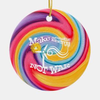 Machen Sie alternative Energie-nicht Rundes Keramik Ornament