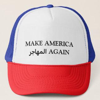 MACHEN Sie AMERIKA المهاجر WIEDER Truckerkappe