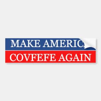 Machen Sie Amerika Covfefe wieder Autoaufkleber