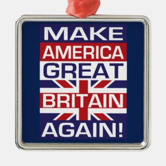 Machen Sie Amerika Großbritannien wieder! Silbernes Ornament