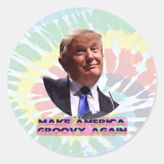 Machen Sie Amerika stark Krawatte-Die wieder Runder Aufkleber