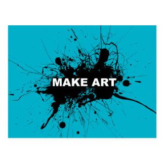 Machen Sie die Kunst-Postkarte (dunkel) Postkarte
