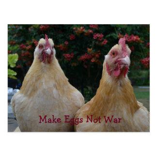 Machen Sie Ei-nicht Krieg… Polieren Sie Orpington Postkarte