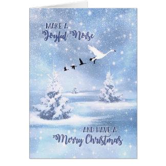 Machen Sie ein frohe Geräusch-Schnee-Gänse Karte