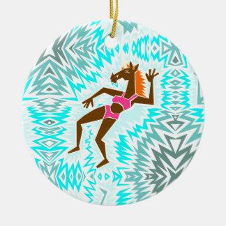 Machen Sie ein Spritzen-Einhorn Keramik Ornament