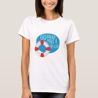 Machen Sie ein Spritzen T-Shirt