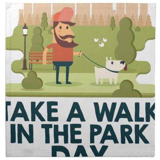 Machen Sie einen Spaziergang am Park-Tag Bedruckte Serviette