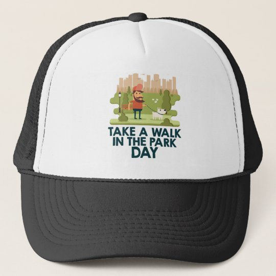 Machen Sie einen Spaziergang am Park-Tag Retrokultmützen