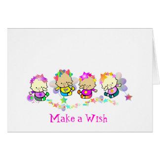 Machen Sie einen Wunsch Karte