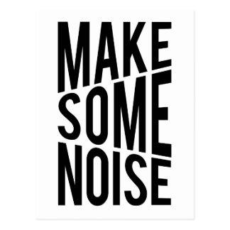 Machen Sie etwas Geräusche Postkarte