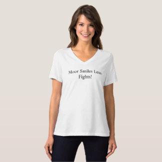 Machen Sie fest,/mehr Lächeln weniger Kämpfe F9 T-Shirt