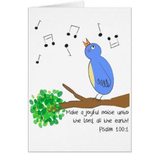 Machen Sie frohen Geräusche Karte