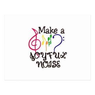 Machen Sie frohen Geräusche Postkarte
