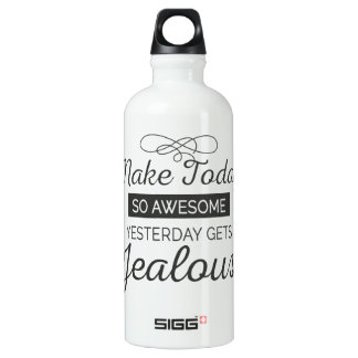 Machen Sie heute fantastisches motivierend Zitat Wasserflasche