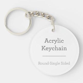 Machen Sie Ihr eigenes rundes Keychain Einseitiger Runder Acryl Schlüsselanhänger