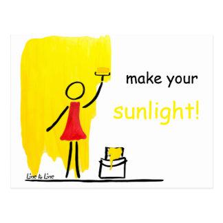 machen Sie Ihr Sonnenlicht Postkarte