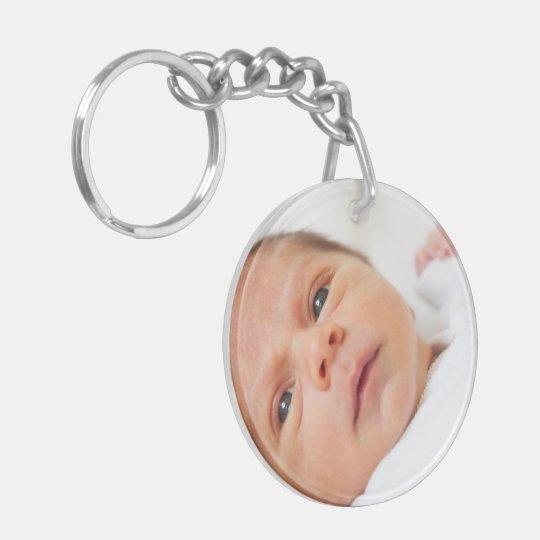Machen Sie Ihre eigene personalisierte mit Seiten Beidseitiger Runder Acryl Schlüsselanhänger