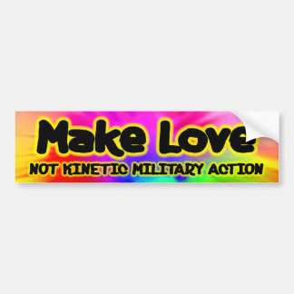 Machen Sie Liebe - Antikrieg Autoaufkleber