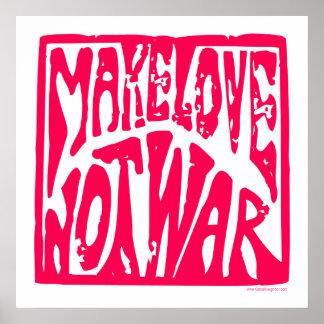Machen Sie Liebe nicht Krieg - Hippie-Entwurf für