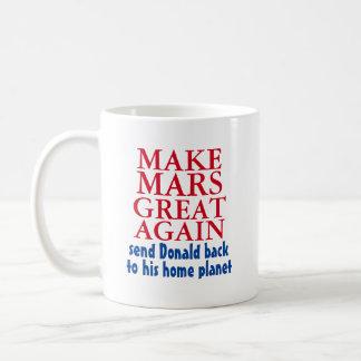 Machen Sie Mars großen wieder lustigen Antidonald Tasse