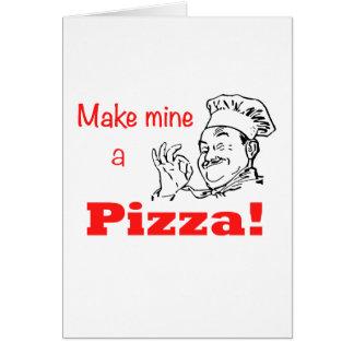 Machen Sie meine eine Pizza! Karte