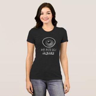 Machen Sie MuZiK groß wieder mit Lautsprecher T-Shirt