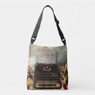 Machen Sie Steampunk Shakespeare Zitat-Tasche Tragetaschen Mit Langen Trägern
