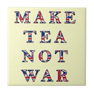 Machen Sie Tee-nicht Krieg Trivet Fliesen-Geschenk Kleine Quadratische Fliese