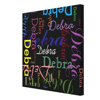 machen Sie typografischen gemusterten Namen Gespannte Galeriedrucke