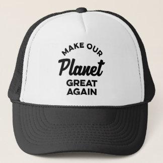 Machen Sie unseren Planeten groß wieder Truckerkappe