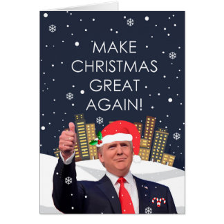 Machen Sie Weihnachten große wieder Karte