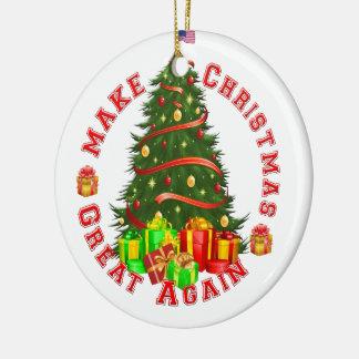 Machen Sie Weihnachten große wieder Rundes Keramik Ornament