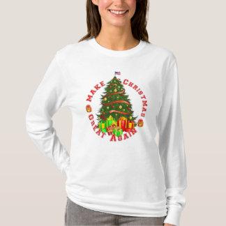 Machen Sie Weihnachten großen wieder Trumpf grünes T-Shirt