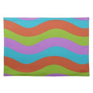 Machen Sie Wellen-Streifen glatt Tischset